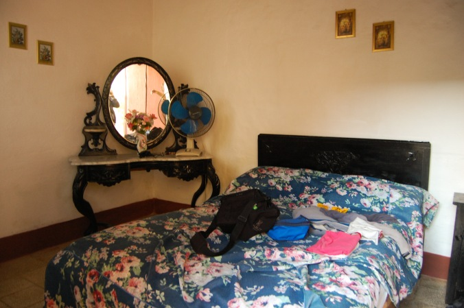 Nosso quarto na casa da Yaque. Foto: Débora Costa e Silva