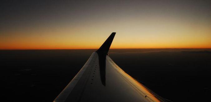 Céu durante o voo de Cuba de volta para o Panamá. Foto: Débora Costa e Silva