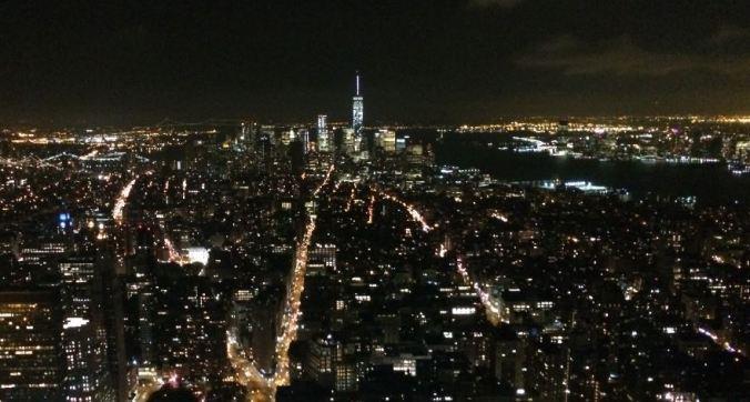 Skyline de Nova York (EUA) com o One World ao fundo. Foto: Débora Costa e Silva