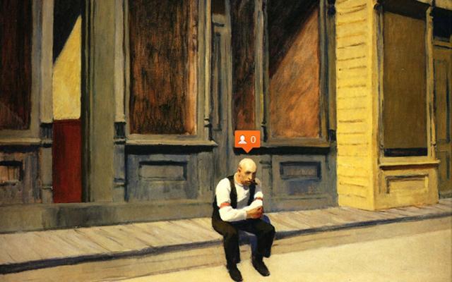 Se Edward Hopper usasse Instagram e outras redes sociais