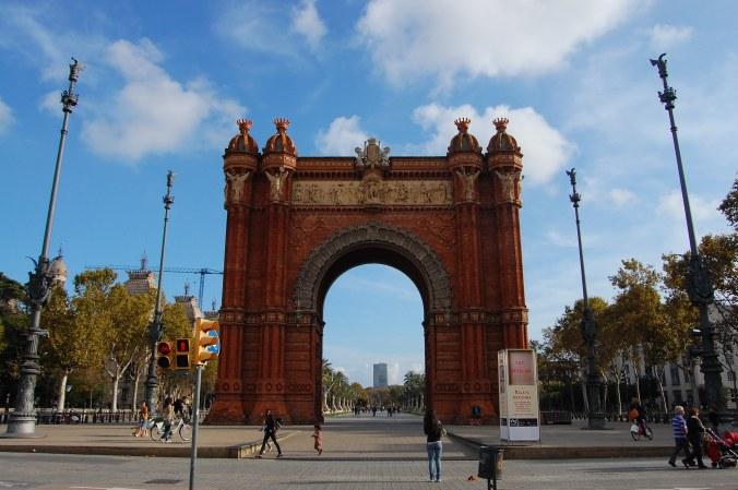 Arco do Triunfo de Barcelona. Foto: Débora Costa e Silva