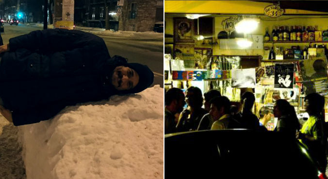 Consta naneve de Montreal (arquivo pessoal) e o bar Mercearia São Pedro (Foto: Facebook do bar)