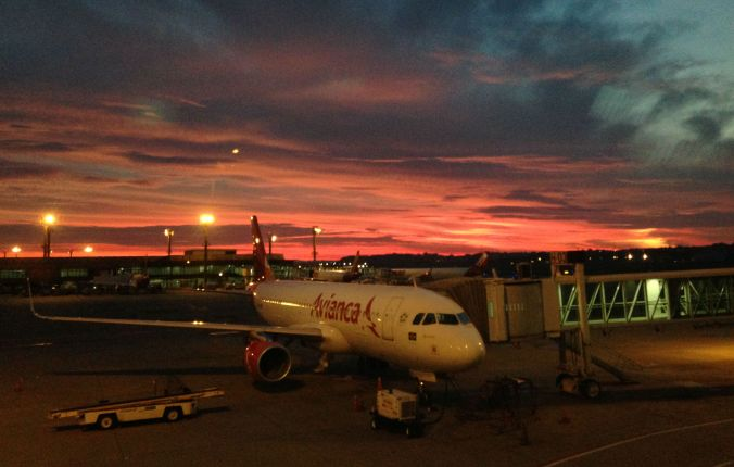 Horário ingrato pelo menos garante um visual incrível do nascer do sol. Foto: Débora Costa e Silva