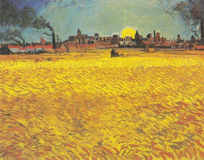Van_Gogh_-_Weizenfeld_bei_Sonnenuntergang