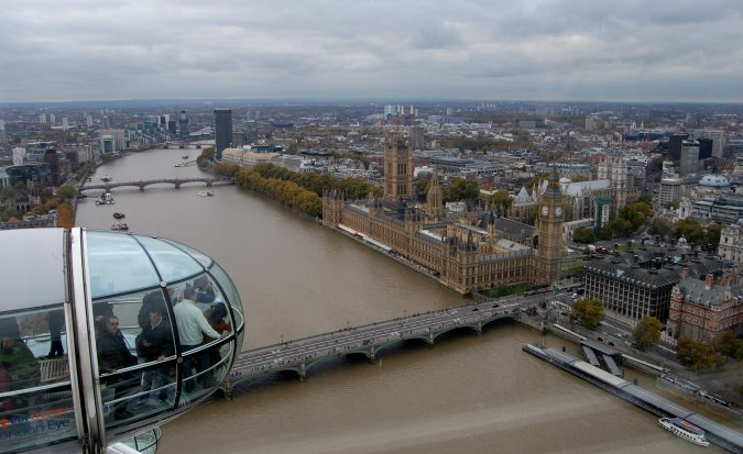 Londres do alto da London Eye. Foto: Débora Costa e Silva
