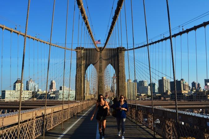 Parei de me censurar por repetir lugares, como a Brooklyn Bridge, que tanto adoro. Foto: Débora Costa e Silva